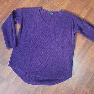 Maroon/Purple Sparkle Sweater